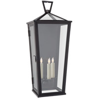 Visual Comfort CHO2792BZ-CG E. F. Chapman Darlana 3 Light 28 inch Bronze Outdoor Wall Lantern Large Tall