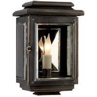 Visual Comfort E.F. Chapman Kensington 1 Light Outdoor Wall Lantern in Bronze with Wax CHO2800BZ