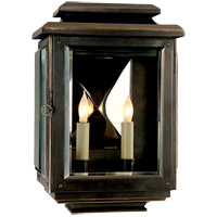 Visual Comfort E.F. Chapman Kensington 2 Light Outdoor Wall Lantern in Bronze with Wax CHO2802BZ