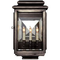 Visual Comfort E.F. Chapman Kensington 3 Light Outdoor Wall Lantern in Bronze with Wax CHO2803BZ