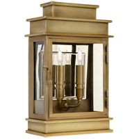 Chart House 2 Light 15 inch Antique Brass Outdoor Wall Lantern