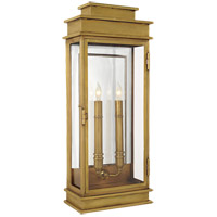 E. F. Chapman Linear Lantern 2 Light 23 inch Antique Brass Outdoor Wall Lantern