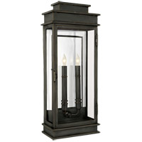 Visual Comfort E.F. Chapman 2 Light Outdoor Wall Lantern in Bronze with Wax CHO2910BZ