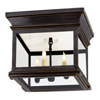 Visual Comfort E.F. Chapman Club 3 Light Outdoor Flush Mount in Bronze with Wax CHO4310BZ-CG