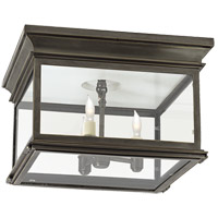 Visual Comfort CHO4311BZ-CG E. F. Chapman Club 3 Light 13 inch Bronze Outdoor Flush Mount in Clear Glass photo thumbnail