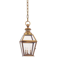 Visual Comfort Chart House Chelsea Hanging Lantern in Antique-Burnished Brass CHO5002AB