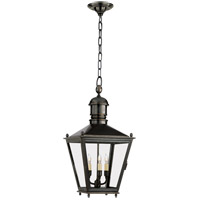 Visual Comfort E.F. Chapman Sussex 3 Light Outdoor Hanging Lantern in Bronze with Wax CHO5032BZ