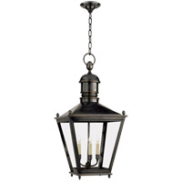 Visual Comfort E.F. Chapman Sussex 3 Light Outdoor Hanging Lantern in Bronze with Wax CHO5033BZ