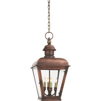 Visual Comfort E.F. Chapman Hampshire 4 Light Outdoor Hanging Lantern in Natural Copper CHO5041NC