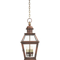 Visual Comfort E.F. Chapman Pimlico 4 Light Outdoor Hanging Lantern in Natural Copper CHO5081NC