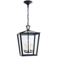 Visual Comfort E.F. Chapman Darlanao 4 Light Outdoor Hanging Lantern in Bronze with Clear Glass Shade CHO5084BZ