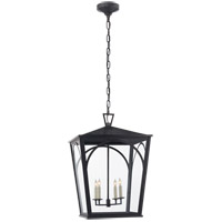 Visual Comfort E.F. Chapman Darlana 4 Light 17-inch Outdoor Hanging Lantern in Bronze, Arc, Large, Clear Glass CHO5311BZ-CG