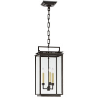 Visual Comfort CHO5605AI-CG Chapman & Myers Cheshire 3 Light 10 inch Aged Iron Outdoor Hanging Lantern, Medium