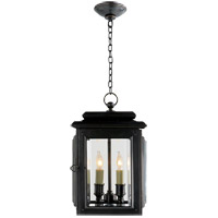 Visual Comfort E.F. Chapman Kensington 4 Light Outdoor Hanging Lantern in Bronze CHO5802BZ