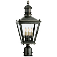 Visual Comfort E.F. Chapman Sussex 3 Light Outdoor Post Lantern in Bronze with Wax CHO7031BZ
