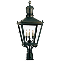 Visual Comfort E.F. Chapman Sussex 3 Light Outdoor Post Lantern in Bronze with Wax CHO7032BZ