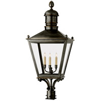 Visual Comfort E.F. Chapman Sussex 3 Light Outdoor Post Lantern in Bronze with Wax CHO7033BZ