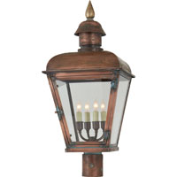 Visual Comfort E.F. Chapman Hampshire 4 Light Outdoor Post Lantern in Natural Copper CHO7050NC