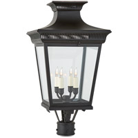 Visual Comfort CHO7055BLK-CG E. F. Chapman Elsinore 4 Light 27 inch Black Post Lantern, Medium photo thumbnail