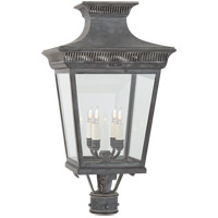 Visual Comfort CHO7055WZ-CG E. F. Chapman Elsinore 4 Light 27 inch Weathered Zinc Post Lantern, Medium