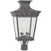 Visual Comfort CHO7055WZ-CG E. F. Chapman Elsinore 4 Light 27 inch Weathered Zinc Post Lantern Medium