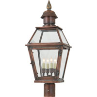 Visual Comfort E.F. Chapman Pimlico 4 Light Outdoor Post Lantern in Natural Copper CHO7080NC