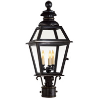 Visual Comfort E.F. Chapman Chelsea 3 Light Outdoor Post Lantern in Bronze with Wax CHO7110BZ