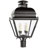 E. F. Chapman Holborn 4 Light 25 inch Aged Iron Outdoor Post Lantern, Medium
