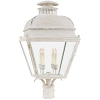 E. F. Chapman Holborn 4 Light 25 inch Old White Outdoor Post Lantern, Medium