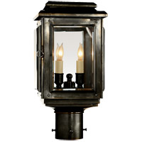 Visual Comfort E.F. Chapman Kensington 4 Light Outdoor Post Lantern in Bronze with Wax CHO7802BZ