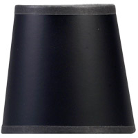 Chart House Black 4 inch Shade in Black Paper