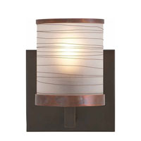 Visual Comfort Studio Clodagh Wrapped Sconce in Brushed Bronze and Antique Copper with Frosted Glass CL2026BB/AC-FG