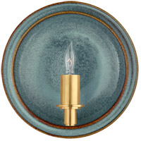 Christopher Spitzmiller Leeds 1 Light 8 inch Oslo Blue Wall Sconce Wall Light, Small Round