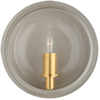 Visual Comfort CS2605SHG Christopher Spitzmiller Leeds 1 Light 8 inch Shellish Gray Wall Sconce Wall Light Small Round