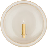 Visual Comfort CS2607IVO Christopher Spitzmiller Leeds 1 Light 16 inch Ivory Round Sconce Wall Light, Large