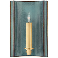 Christopher Spitzmiller Leeds 1 Light 7 inch Oslo Blue Wall Sconce Wall Light, Small Rectangle
