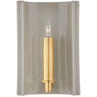 Christopher Spitzmiller Leeds 1 Light 7 inch Shellish Gray Wall Sconce Wall Light, Small Rectangle
