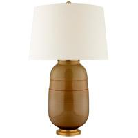 Visual Comfort CS3622DKH-PL Christopher Spitzmiller Newcomb 30 inch 100 watt Dark Honey Table Lamp Portable Light