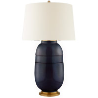 Christopher Spitzmiller Newcomb 37 inch 100 watt Mixed Blue Brown Table Lamp Portable Light