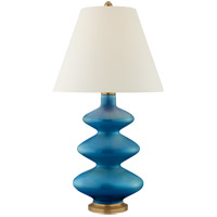 Christopher Spitzmiller Smith 29 inch 100 watt Aqua Crackle Table Lamp Portable Light