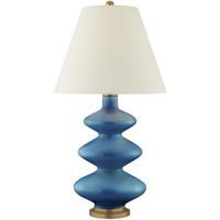 Visual Comfort CS3631AQC-PL Christopher Spitzmiller Smith 29 inch 100 watt Aqua Crackle Table Lamp Portable Light