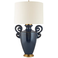 Christopher Spitzmiller Ralphaeli 36 inch 100 watt Mixed Blue Brown Table lamp Portable Light, Large Handled
