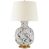 Visual Comfort CS3652BSP-L Christopher Spitzmiller Buatta 33 inch 100 watt Blue Splatter Table Lamp Portable Light, Large