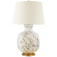 Visual Comfort CS3652GSP-L Christopher Spitzmiller Buatta 33 inch 100 watt Gold Splatter Table Lamp Portable Light, Large