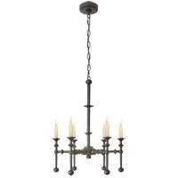 Christopher Spitzmiller Harlow 6 Light 22 inch Aged Iron Chandelier Ceiling Light, Medium