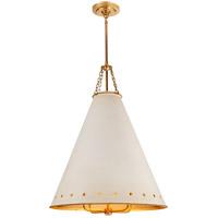 Visual Comfort CS5301NB-AWT Christopher Spitzmiller Hadley 4 Light 24 inch Natural Brass Pendant Ceiling Light