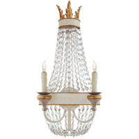 Visual Comfort JN2016VWG-CG Julie Neill Entellina 2 Light 13 inch Vintage White and Gild Wall Sconce Wall Light