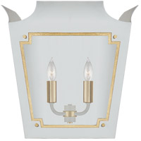 Visual Comfort JN2020SW/G-CG Julie Neill Caddo 2 Light 16 inch Soft White and Gild Lantern Wall Sconce Wall Light
