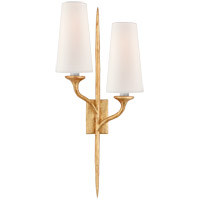 Visual Comfort JN2076AGL-L Julie Neill Iberia 2 Light 11 inch Antique Gold Leaf Double Sconce Wall Light