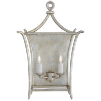 Visual Comfort JN2612BSL Julie Neill Aria 2 Light 14 inch Burnished Silver Leaf Wall Sconce Wall Light Large